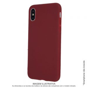 Capa TPU Anti-choque Bordô P/ iPhone XS Max - (CASEIPHONEXSMAX-BD)