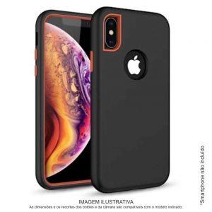 Capa TPU 3em1 Anti-choque Preto P/ iPhone XS Max - (CASEIPHONEXSMAX-BK)