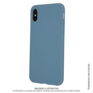 Capa TPU Anti-choque Cinza Azul P/ iPhone XS Max - (CASEIPHONEXSMAX-GB)