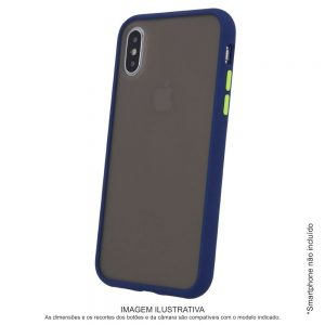 Capa TPU Anti-choque Marinho P/ iPhone XS Max - (CASEIPHONEXSMX-MR2)