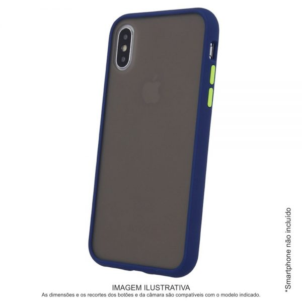 Capa TPU Anti-choque Marinho P/ iPhone XS Max - (CASEIPHONEXSMX-MR2)