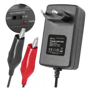 Carregador De Baterias Chumbo 6-12V 500ma - (CAR020)