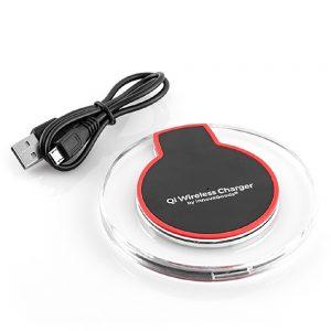 Carregador Por Indução S/ Fios 5v 1A C/ Luz QI - (INVG018)