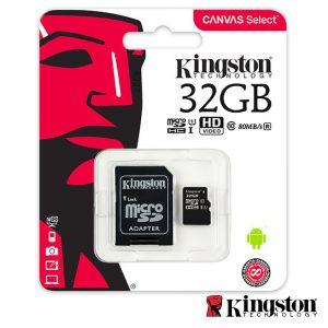 Cartão Memória Micro SDHC 32GB UHS-I Adaptador KINGSTON - (SDCS/32GB)
