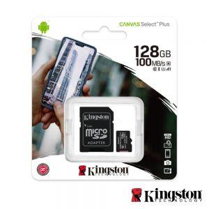 Cartão Memória Micro SDXC 128GB UHS-I KINGSTON - (SDCS2/128GB)