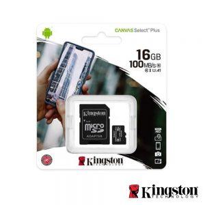Cartão Memória Micro SDXC 16GB UHS-I Adaptador KINGSTON - (SDCS2/16GB)