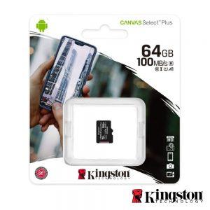 Cartão Memória Micro SDXC 64GB UHS-I KINGSTON - (SDCS2/64GBSP)