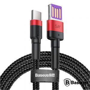 Cabo USB HW Qc P/ USB-C 5a 1M 40W Vermelho Cafule BASEUS - (CATKLF-P91)