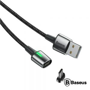 Cabo USB-A 2.0 Macho / USB-C Magnético 2a 2m Preto - (CATXC-B01)