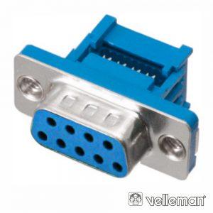 Ficha D-Sub 9p Fêmea P/ Flat Cable - (CC056)