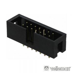 Ficha Conectora Macho P/ Ci Recto 2.54mm 14p VELLEMAN - (CC080)