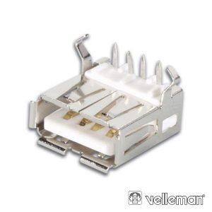 Ficha USB-A Fêmea 90º Simples P/ Ci - (CC088)