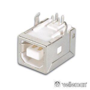 Ficha USB-B Fêmea Simples 90° P/ Ci - (CC089)