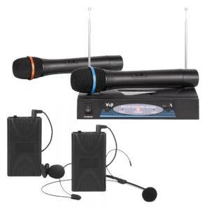 Central Microfone Vhf S/ Fios 2 Canais Vhf 210-270mhz - (CENTERMIK-02VHF)