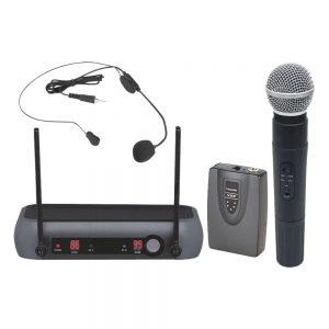 Central Microfone S/ Fios 2 Canais Vhf 174/216mhz - (PRM903)