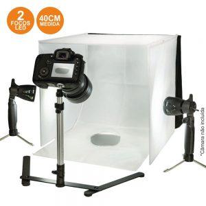 Estúdio Fotografia Portátil C/ Iluminação LED - (CL-STUDIO10)
