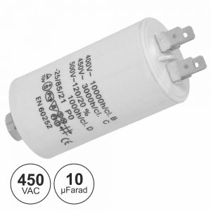 Condensador Arranque 10uf 450V + Terra - (COA10/450)