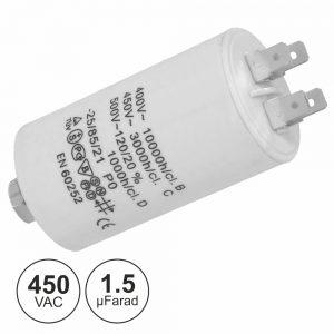 Condensador Arranque 1.5uf 450V + Terra - (COA1.5/450)