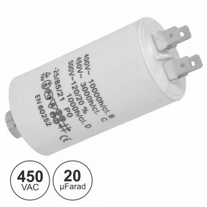 Condensador Arranque 20uf 450V + Terra - (COA20/450)