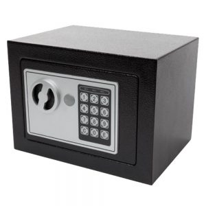 Cofre Eletrónico Aço 23x17x17cm Cinzento - (LAR201)