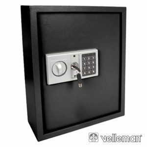 Cofre Eletrónico Aço P/ Chaves Bloqueio 8 Dígitos VELLEMAN - (BG80022)