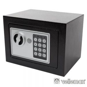 Cofre Eletrónico Aço 23x17x17cm Cinzento VELLEMAN - (BG90014)