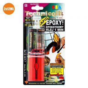 Cola Epóxi Secagem Rápida Transparente 24ml - (EPOXY24E)