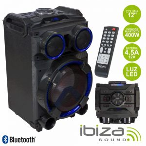 "Coluna Amplificada 12"" 400W Comando USB/BT/SD/FM IBIZA - (STANDUP12)"