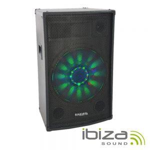"Coluna 15"" 700W Preta IBIZA - (X-LED15)"