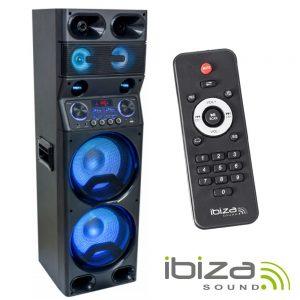 """Coluna Ativa 10"""" LED 450W USB/MicroSD/FM/BT IBIZA - (TS450)"""