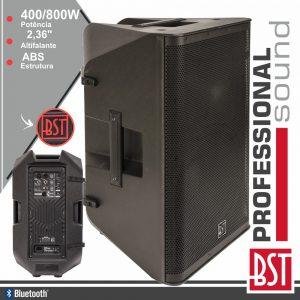 "Coluna Bi-Amplificada Profissional 12"" 400-800W BST - (DSP12A)"
