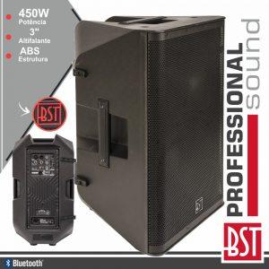"Coluna Bi-Amplificada Profissional 15"" 450-900W BST - (DSP15A)"