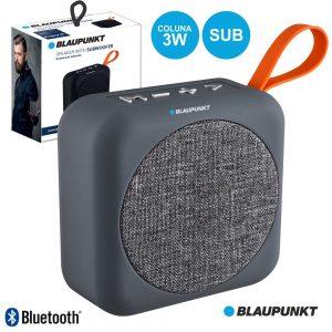 Coluna Bluetooth 3W C/ Sub USB/SD Cinza BLAUPUNKT - (BLP3610.153)