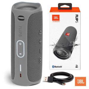 Coluna Bluetooth 20W Bat IPX7 Cinza JBL - (JBLFLIP5GRY)