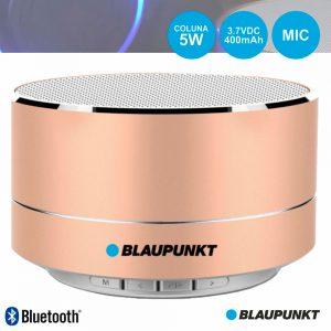 Coluna Bluetooth Portátil 5W SD/Bat/LED Dourado BLAUPUNKT - (BLP3100.191)