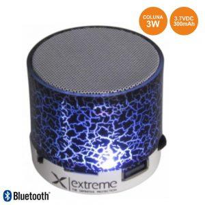 Coluna Bluetooth Portátil 3W SD/Bat/LED Branco - (XP101W)