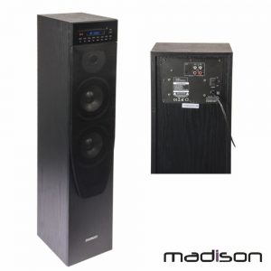 Coluna Centro Amplificada FM/USB/BT/CD 200W MADISON - (MAD-CENTER200CDBK)