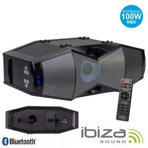 Coluna Amplificada 100W USB/SD/BT/FM/Comando LED IBIZA - (SPLBOX450)