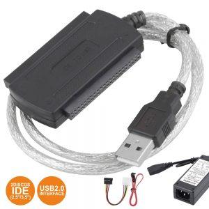 Cabo USB-B Macho P/ 2 Discos Ide C/ Alimentação - (COMP733)