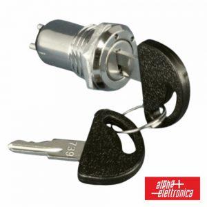 Comutador c/ Chave de 1 Circuito ON/ON Redondo - (360-140)