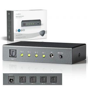 Comutador De Áudio 4 vias - (ASWI2504AT)
