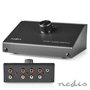 Comutador De Áudio analógico 4 vias - (ASWI2404BK)