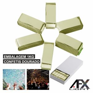 Embalagem Confetis Dourado 1kg AFXLIGHT - (CONF-GOLD)
