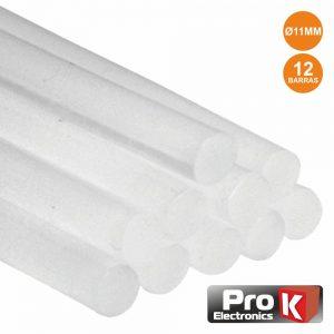 Conjunto De 12 Barras De Cola Quente 11mm 30cm PROK - (PKGS1130)