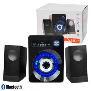 Conjunto Colunas Bluetooth P/ Pc 2.1 USB/SD/Aux/FM - (MS-27BK)
