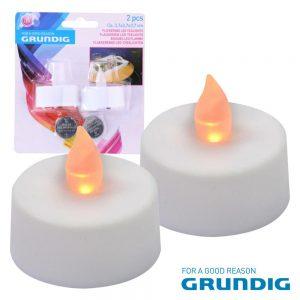 Conjunto De 2 Velas C/ LED E Pilhas Grundig - (06176)