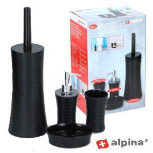 Conjunto Acessórios Casa De Banho Pp 4 Peças Alpina - (ALP094)