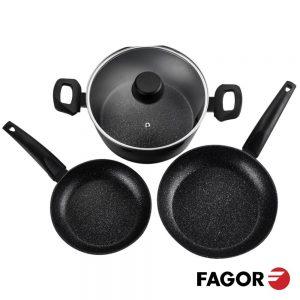 Conjunto De Cozinha C/ 1 Panela E 2 Frigideiras FAGOR - (VIVANT)
