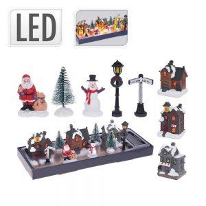 Conjunto De Figuras De Natal C/ Luzes LED - (ABG100800)