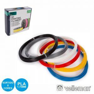 Conjunto De Filamentos P/ Impressão 3d 1.75mm 6 Cores - (PLA175SET6)